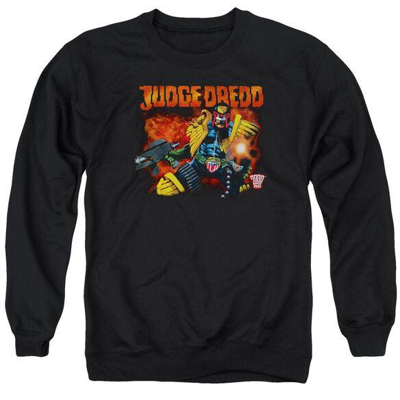 Judge Dredd Through Fire Adult Crewneck Sweatshirt