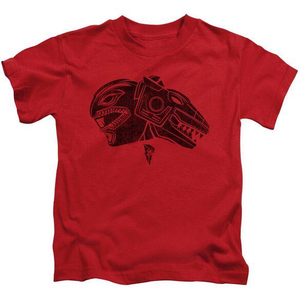 Power Rangers Red Short Sleeve Juvenile Red T-Shirt