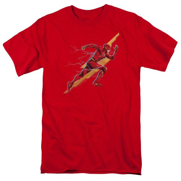 Justice League Movie Flash Forward Short Sleeve Adult T-Shirt