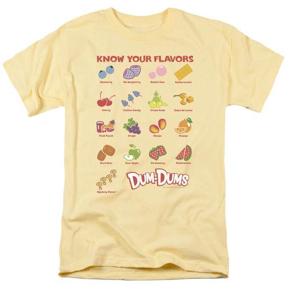 Dum Dums Flavors Short Sleeve Adult Banana T-Shirt