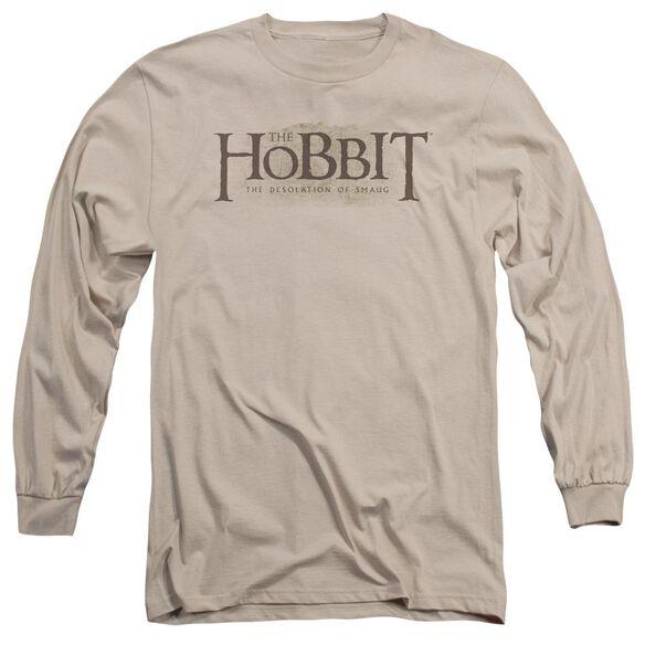 Hobbit Textured Logo Long Sleeve Adult T-Shirt