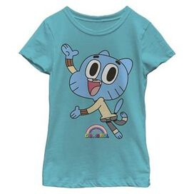 Gumball Cat Wave Youth Girls Shirt