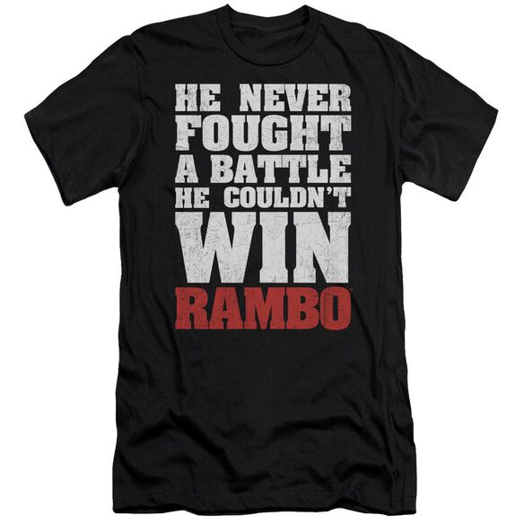 Rambo:First Blood He Never Short Sleeve Adult T-Shirt
