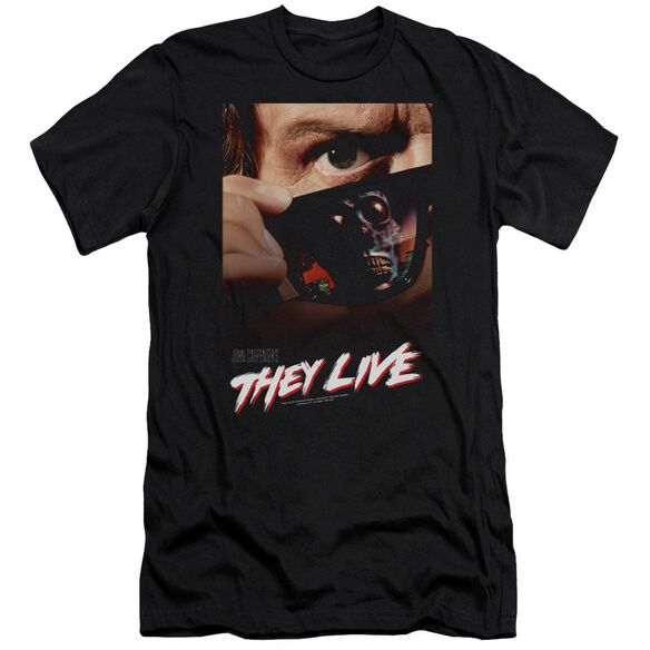 They Live Poster Premuim Canvas Adult Slim Fit