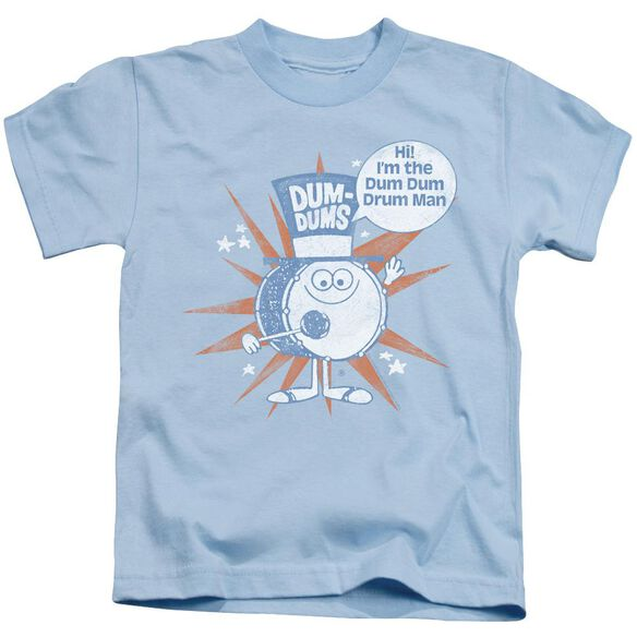 Dum Dums Drum Man Short Sleeve Juvenile Light Blue Md T-Shirt