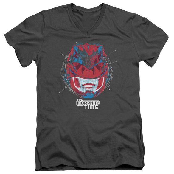 Power Rangers Its Morphin Time Short Sleeve Adult V Neck T-Shirt