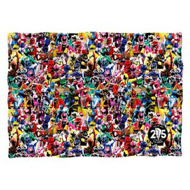Power Rangers Crowd Of Rangers (Front Back Print) Pillow Case