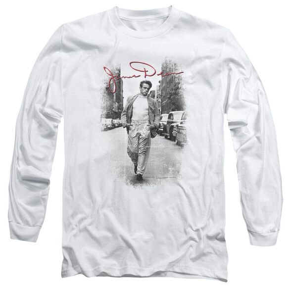 Dean Street Distressed Long Sleeve Adult T-Shirt