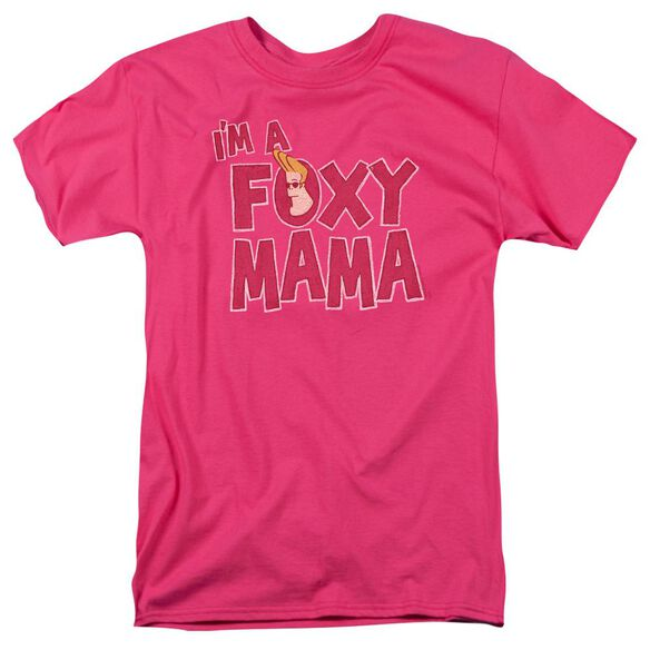 Johnny Bravo Foxy Mama Short Sleeve Adult Hot Pink T-Shirt
