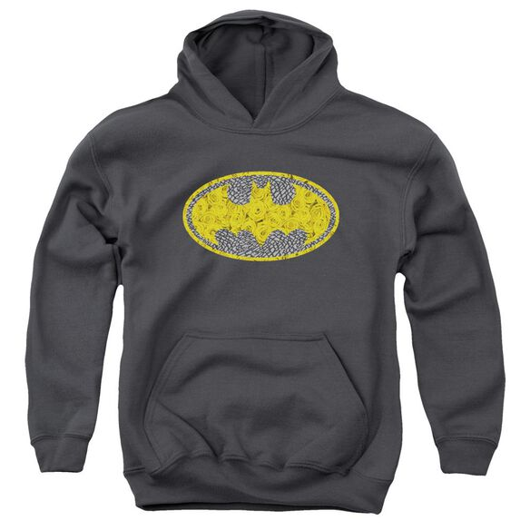 Batman Elephant Rose Signal Youth Pull Over Hoodie