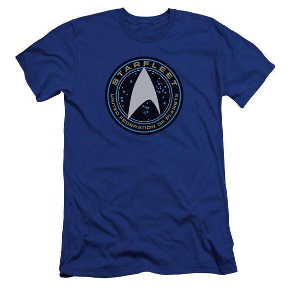 Star Trek Beyond Starfleet Patch Premuim Canvas Adult Slim Fit Royal