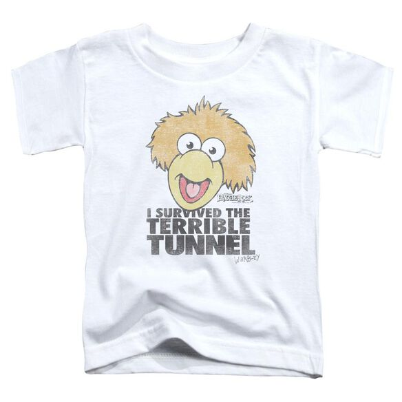 Fraggle Rock Terrible Tunnel Short Sleeve Toddler Tee White T-Shirt