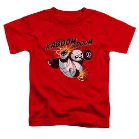 Kung Fu Panda Kaboom Of Doom Short Sleeve Toddler Tee Red T-Shirt
