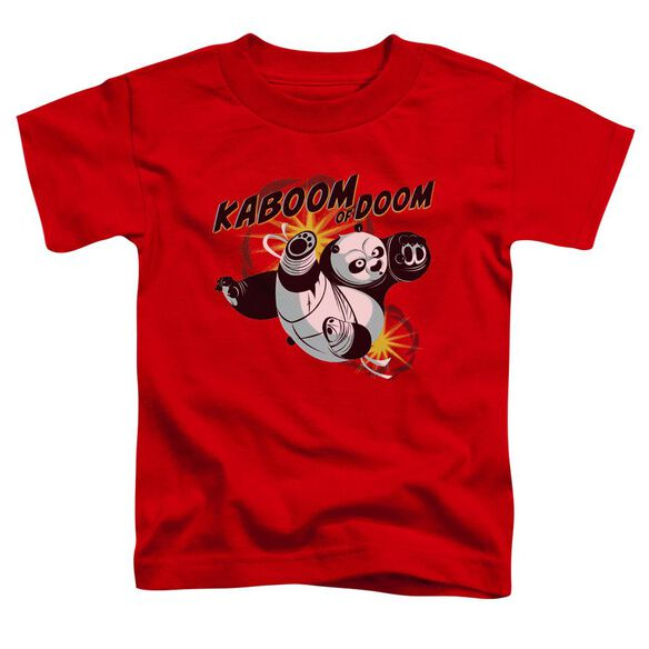 Kung Fu Panda Kaboom Of Doom Short Sleeve Toddler Tee Red T-Shirt