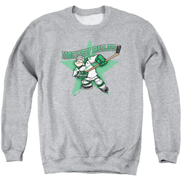 Popeye Spinach Leafs - Adult Crewneck Sweatshirt - Athletic Heather