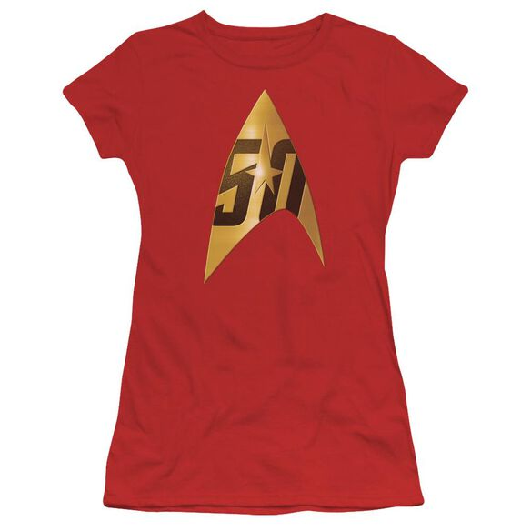Star Trek 50 Th Anniversary Delta Short Sleeve Junior Sheer T-Shirt