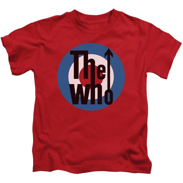 The Who Logo Short Sleeve Juvenile Red T-Shirt