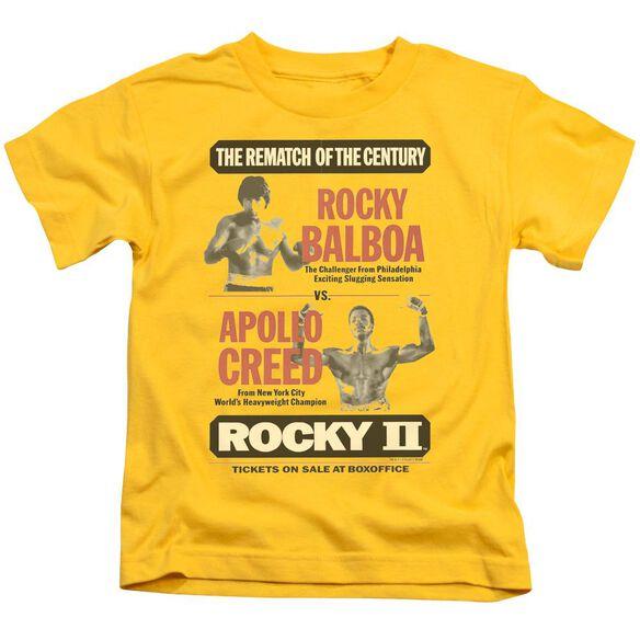 Rocky Ii Rematch Short Sleeve Juvenile Yellow Md T-Shirt