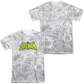 Dc Vintage Bat Strip (Front Back Print) Short Sleeve Adult 100% Poly Crew T-Shirt