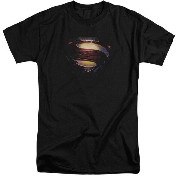 Man Of Steel Grungy Shield Short Sleeve Adult Tall T-Shirt