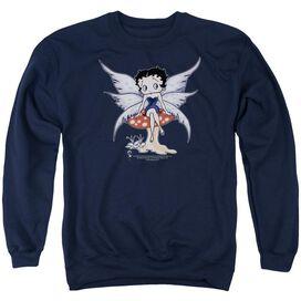 Betty Boop Mushroom Fairy - Adult Crewneck Sweatshirt - Navy
