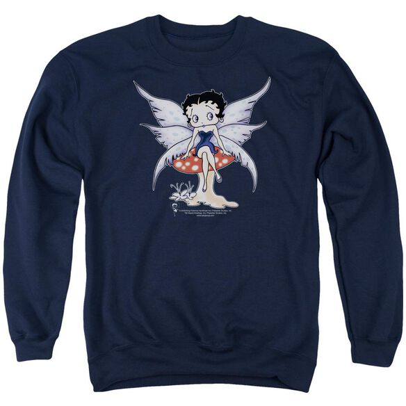 Betty Boop Mushroom Fairy Adult Crewneck Sweatshirt