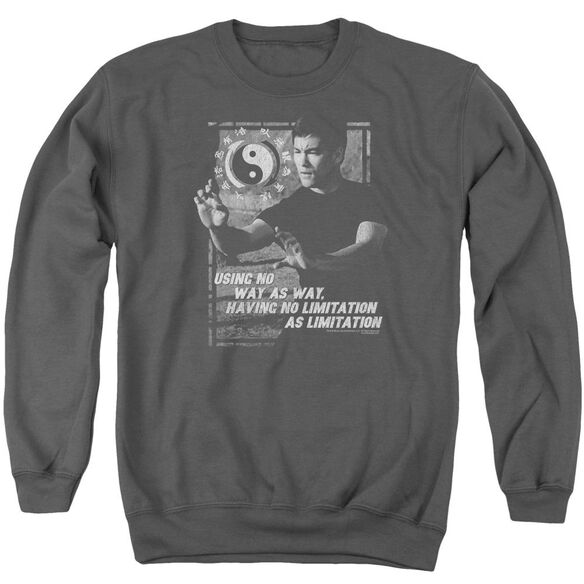 Bruce Lee No Way As A Way Adult Crewneck Sweatshirt