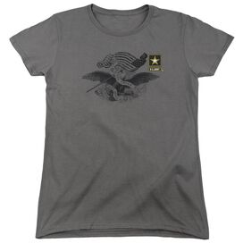 Army Left Chest Short Sleeve Womens Tee T-Shirt