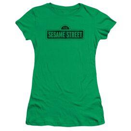 Sesame Street One Color Dark Short Sleeve Junior Sheer Kelly T-Shirt