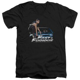 FAST AND THE FURIOUS CAR RIDE - S/S ADULT V-NECK 30/1 - BLACK T-Shirt