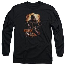 Ninjak Fiery Ninjak Long Sleeve Adult T-Shirt