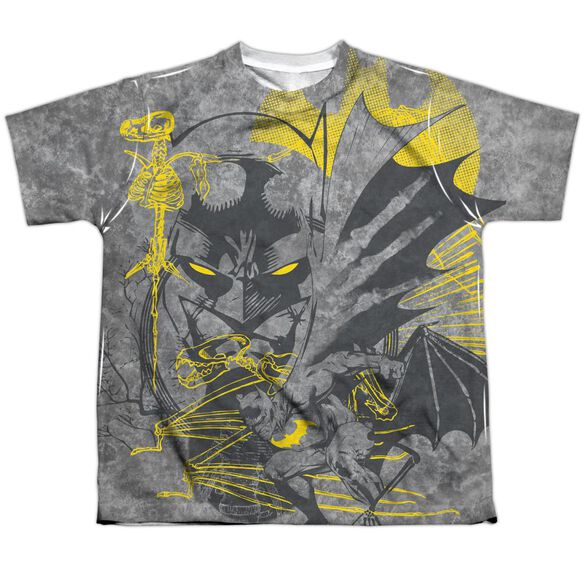 Batman Symbiotic Short Sleeve Youth Poly Crew T-Shirt