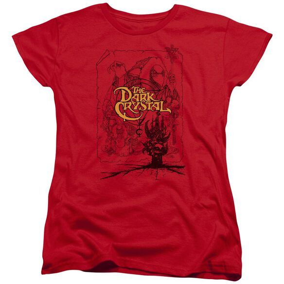 Dark Crystal Poster Lines Short Sleeve Womens Tee T-Shirt