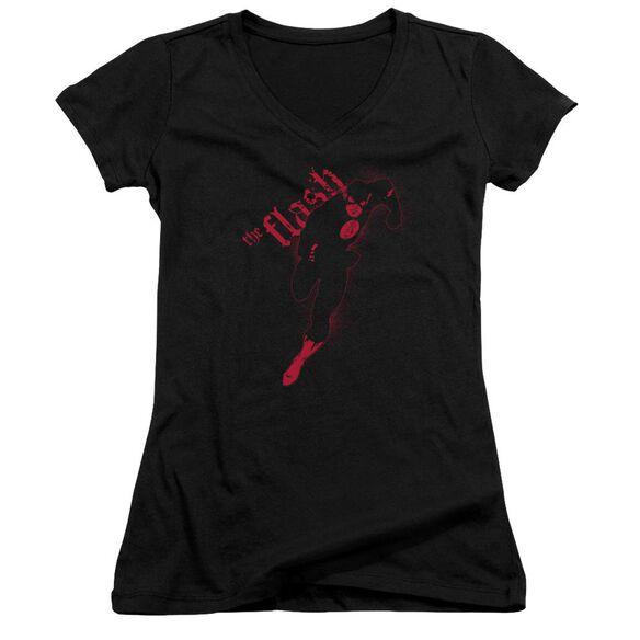 Jla Flash Darkness Junior V Neck T-Shirt