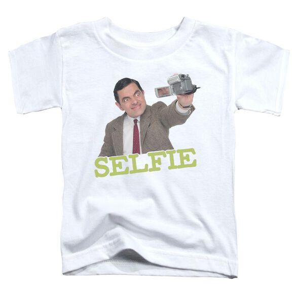 Mr Bean Selfie Short Sleeve Toddler Tee White T-Shirt