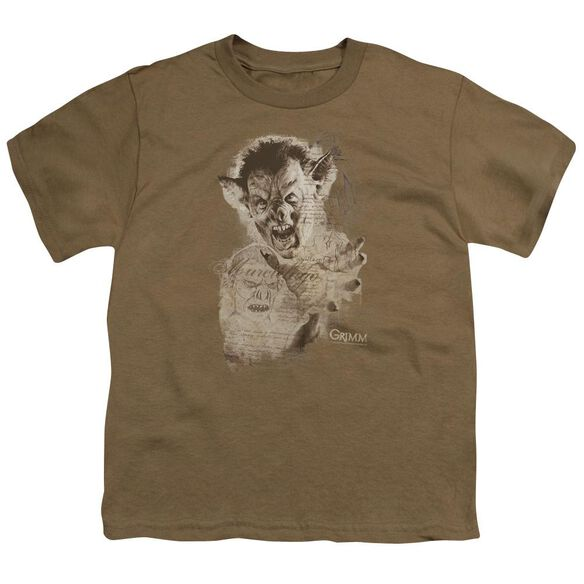 Grimm Murcielago Sketch Short Sleeve Youth Safari T-Shirt