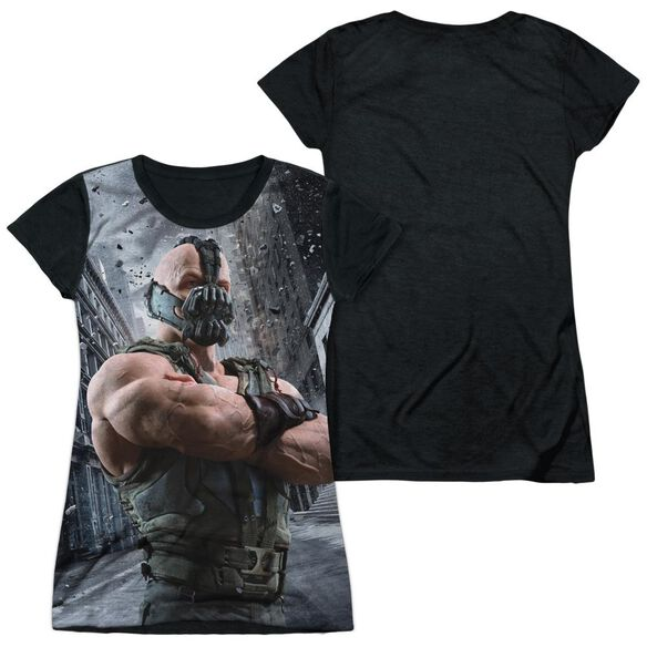 Dark Knight Rises Occupy Gotham Short Sleeve Junior Poly Black Back T-Shirt