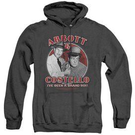 Abbott & Costello Bad Boy - Adult Heather Hoodie - Black