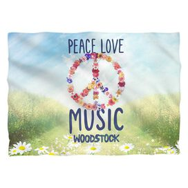 Woodstock Open Love (Front Back Print) Pillow Case
