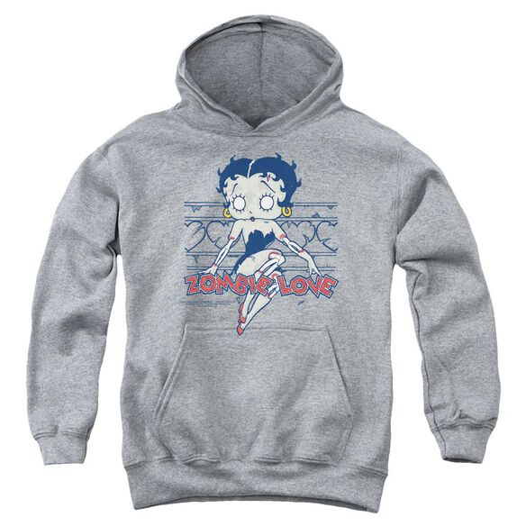 Betty Boop Zombie Pinup Youth Pull Over Hoodie