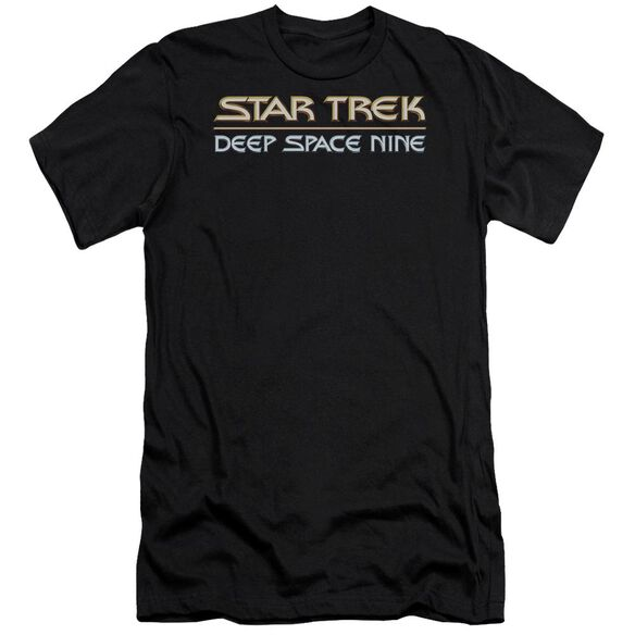 STAR TREK DEEP SPACE NINE LOGO - S/S ADULT 30/1 - BLACK T-Shirt