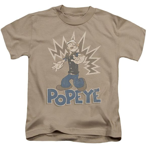 Popeye Sailor Man Short Sleeve Juvenile Sand T-Shirt
