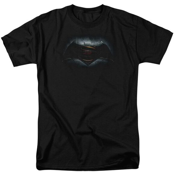 Batman V Superman Logo Short Sleeve Adult Black T-Shirt