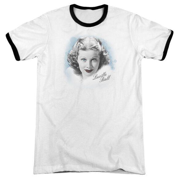 Lucille Ball In Blue Adult Ringer White Black