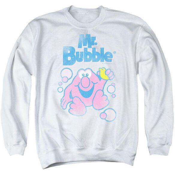 Mr Bubble 80 S Logo Adult Crewneck Sweatshirt