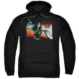 Wonder Woman Movie Warrior Woman Adult Pull Over Hoodie