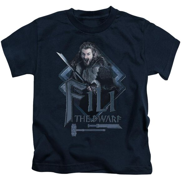 The Hobbit Fili Short Sleeve Juvenile Navy T-Shirt