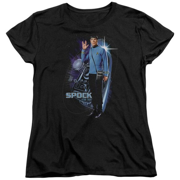 Star Trek Galactic Spock Short Sleeve Womens Tee T-Shirt