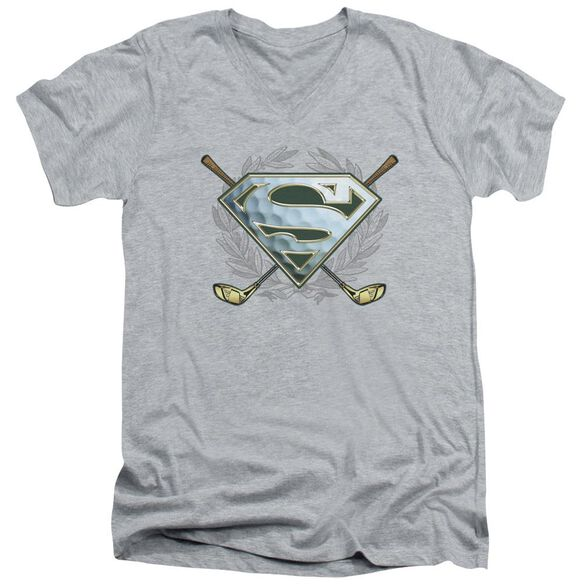 Superman Fore! Short Sleeve Adult V Neck Athletic T-Shirt