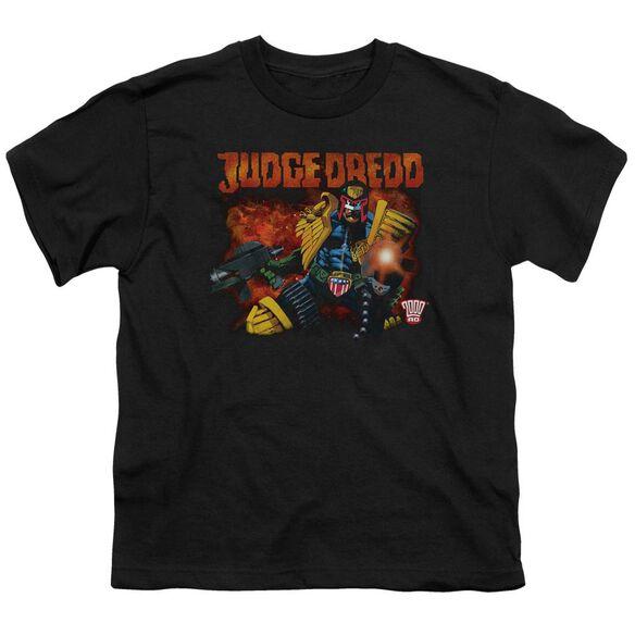 Judge Dredd Through Fire Short Sleeve Youth T-Shirt